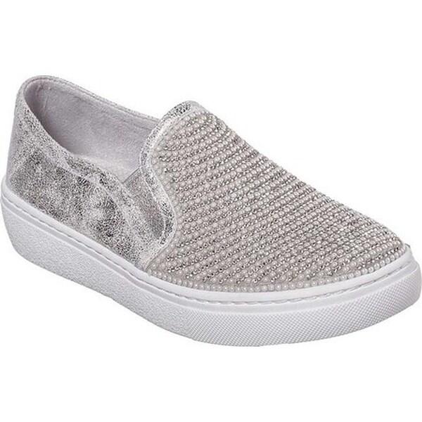 7ce1b258c133 Shop Skechers Women s Goldie Diamond Wishes Slip-On Sneaker Silver ...