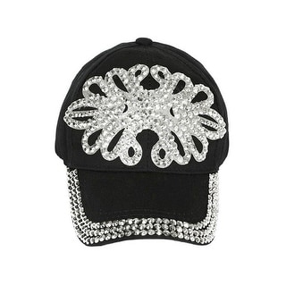 Plastic Pearl Vines Baseball Cap - Black