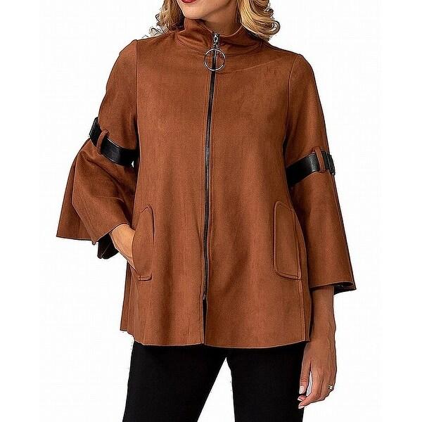 Joseph Rikkoff Women's Jacket Brown Size 16 Bell Sleeve Faux Suede. Opens flyout.