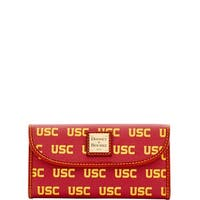 Dooney & Bourke NCAA USC Continental Clutch Wallet (Introduced by Dooney & Bourke at $128 in Mar 2016) - Rouge