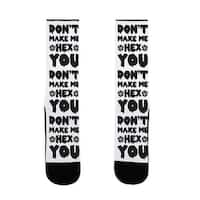 LookHUMAN Don't Make Me Hex You US Size 7-13 Socks