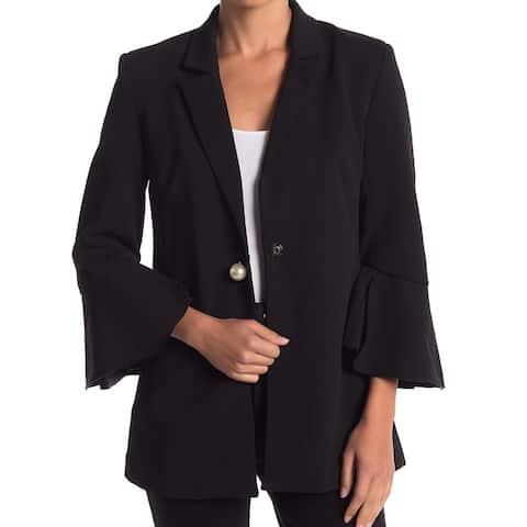 Romeo & Juliet Couture Women's Black Size Medium M Flare Sleeve Blazer