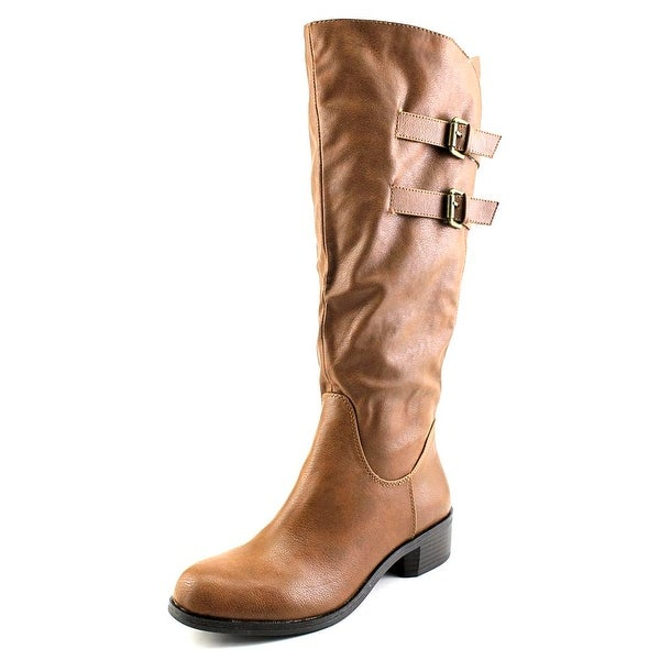 Style & Co Masen Wide Calf Women  Round Toe Synthetic Tan Knee High Boot