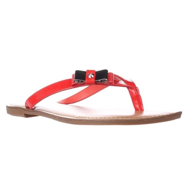 B35 Vance Flat Thong Bow Flip Flops, Coral