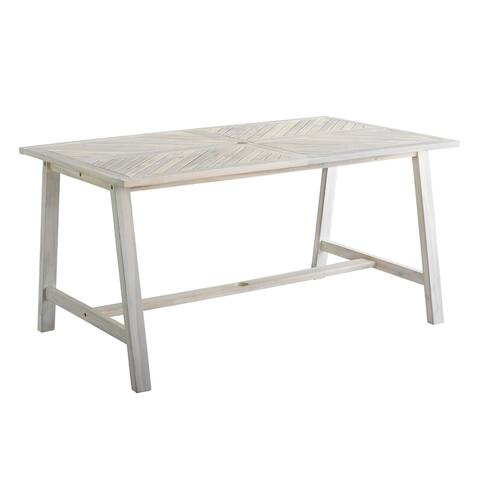 Havenside Home 60-inch Acacia Chevron Dining Table
