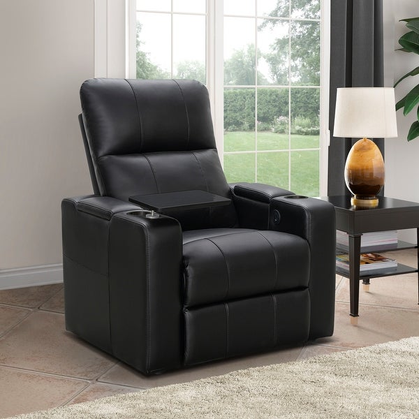 Abbyson Rider Leather Theater Power Recliner. Opens flyout.
