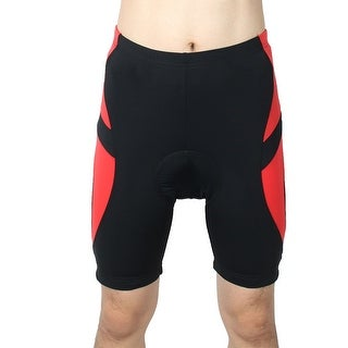REALTOO Authorized Bicycle Underwear Cycling Shorts Pants Black Red L (W 38)