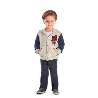 Toddler Boy Outfit Hoodie Jacket and Denim Pants Set Pulla Bulla 1-3 Years