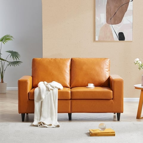 Morden Style PU Leather Couch Furniture Upholstered 3 Seat Sofa Couch and Loveseat for Home or Office