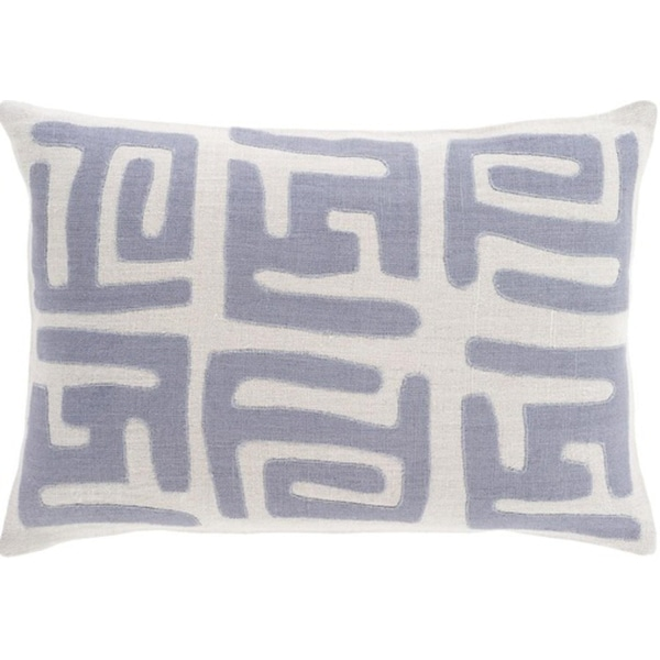 "13"" x 19"" Tribal Rhythm Taupe and Elephant Gray Decorative Throw Pillow-Down Filler"