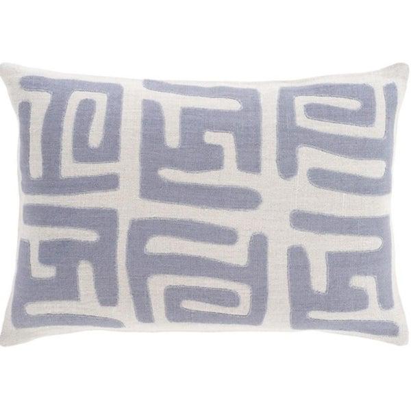 "13"" x 19"" Tribal Rhythm Taupe and Elephant Gray Decorative Throw Pillow"