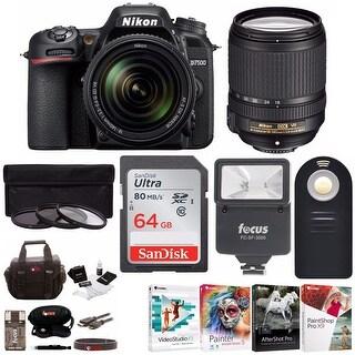 Nikon D7500 20.9MP DX-Format DSLR Camera and AF-S 18-140mm Nikkor Lens Bundle