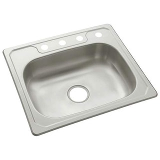 "Sterling 14631-4 Middleton 25"" Single Basin Drop In Stainless Steel Kitchen Sink - Stainless Steel"