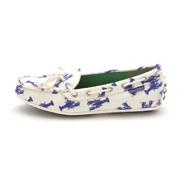 Cole Haan Womens Gailsam Closed Toe Boat Shoes - blue lobsters/white - 6