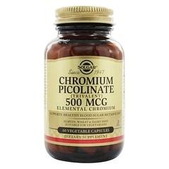 Solgar Chromium Picolinate 500 Mcg (60 Vegetable Capsules)