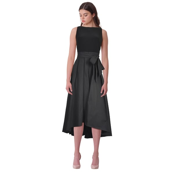 Lauren Ralph Lauren Jersey Taffeta Hi-Low Sleeveless Cocktail Evening Dress  - 8