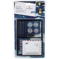 Postcard Die & 10 Rubber Stamps - Santoro's Gorjuss Die & Stamp Set