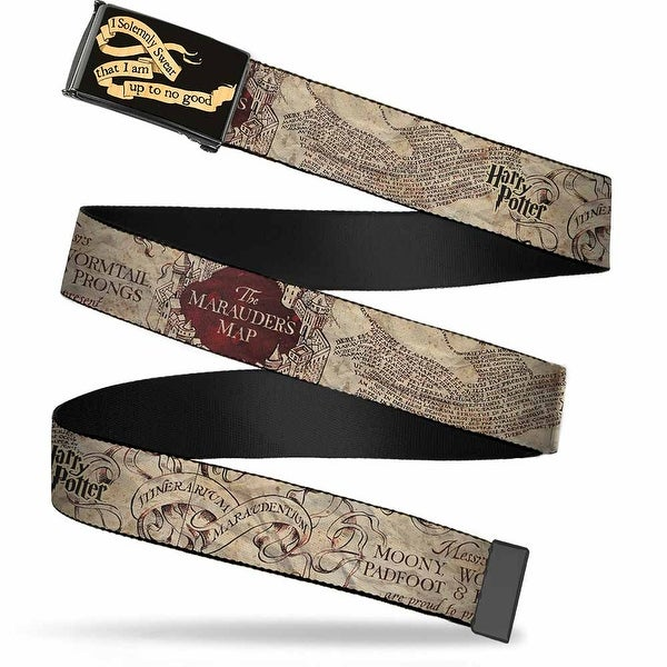 Harry Potter I Solemnly Swear That I Am Up To No Good Banner Gw Black 1.0 Web Belt