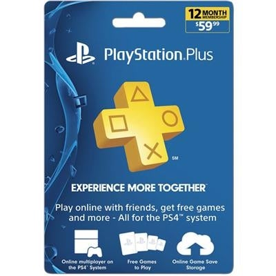 Sony Playstation 3002074 Ps Plus 12 Month Subscription Card Live