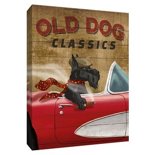 """PTM Images 9-148456  PTM Canvas Collection 10"""" x 8"""" - """"Old Dog Classics"""" Giclee Dogs Art Print on Canvas"""