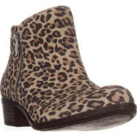Lucky Brand Basel Side Zip Ankle Boots, Natural Leopard
