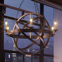 """Luxury Vintage Chandelier, 32""""H x 26""""W, with Transitional Style, Sphere Design, Estate Bronze Finish"""