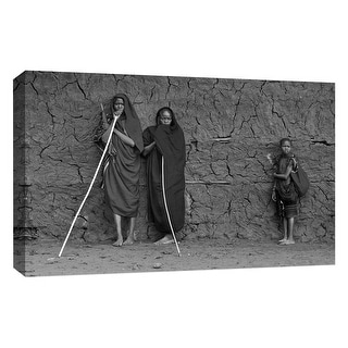 """PTM Images 9-126726  PTM Canvas Collection 10"""" x 8"""" - """"Family"""" Giclee Children and Women Art Print on Canvas"""