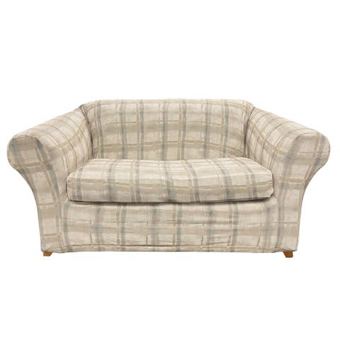 SureFit Stretch Arno by Waverly Two Piece Loveseat Slipcover