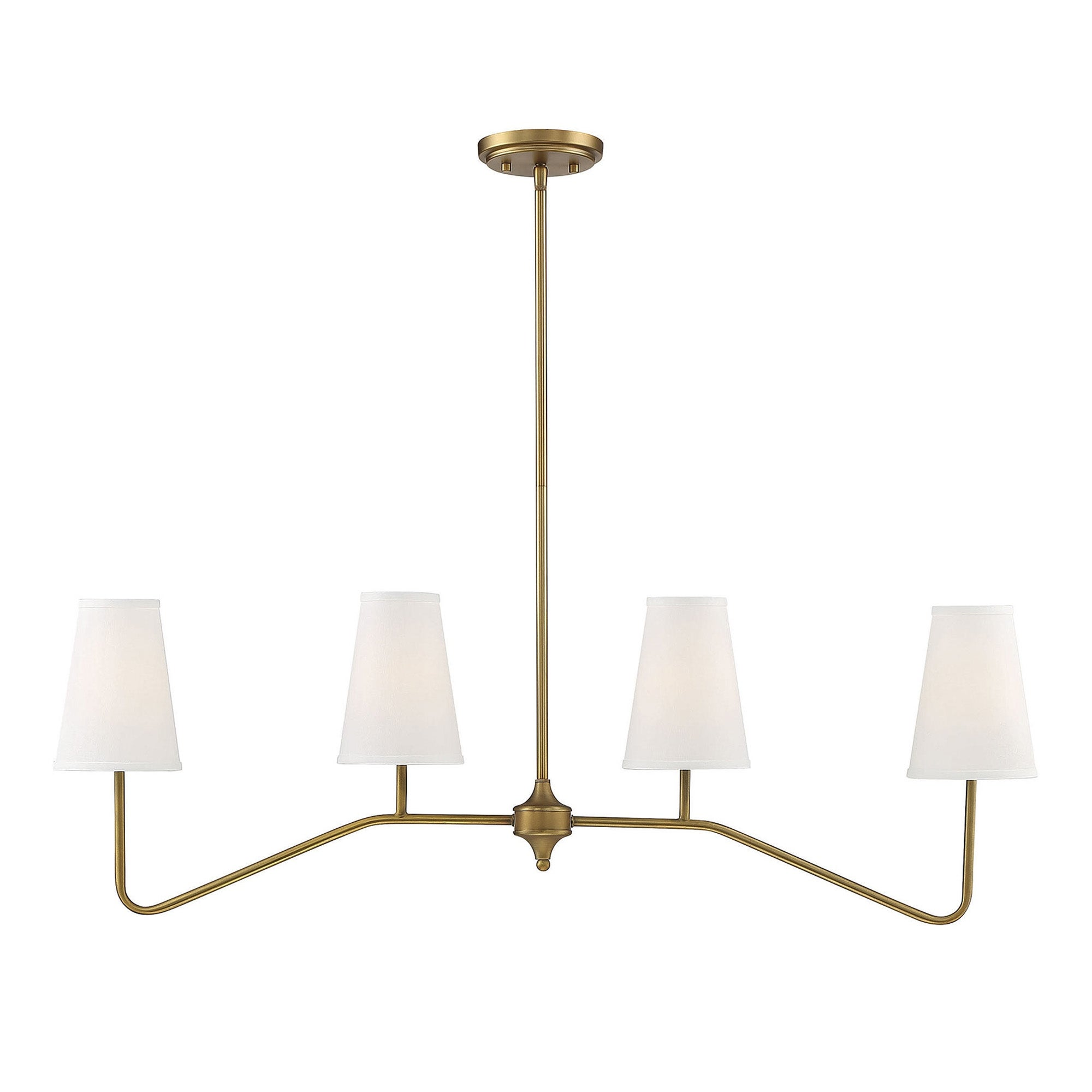 Savoy House4 Light Natural Brass Linear Chandelier Brushed Nickel As Is Item Brushed Nickel Dailymail