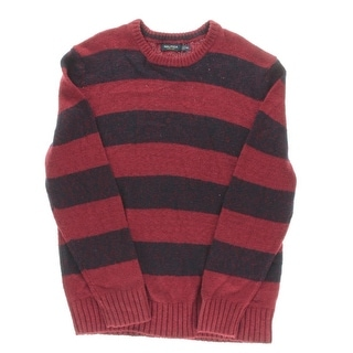 Nautica Mens Striped Crew Neck Pullover Sweater
