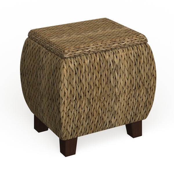 The Curated Nomad Consuelo Round Storage Ottoman. Opens flyout.