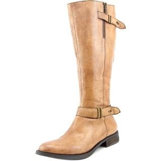 Steve Madden Alyy Wide calf Women Round Toe Leather Knee High Boot