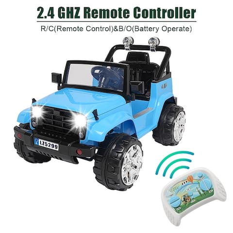 12V Rechargeable Battery Powered Kids Electric Double Drive Car w/ 2.4G RC