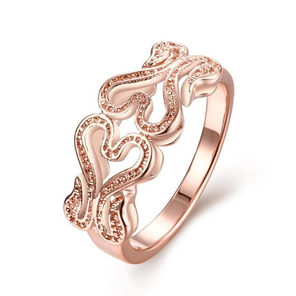Rose Gold Double Hollow Love Ring