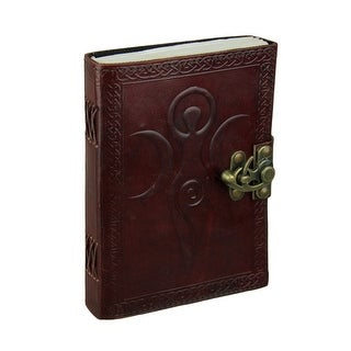 Triple Moon Goddess Embossed Leather Bound Journal with 240 Unlined Pages