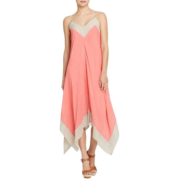 Nic + Zoe Womens Tank Dress Colorblock V-Neck