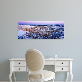 Easy Art Prints Panoramic Image 'Canyon covered with snow, Bryce Point, Bryce Canyon National Park, Utah' Canvas Art