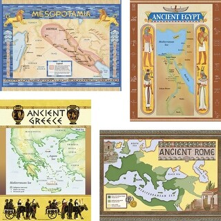 Teacher Created Resources Ancient Civilizations Charts Bulletin Board Set with Teacher Guide, 18 X 24 in, Set of 5