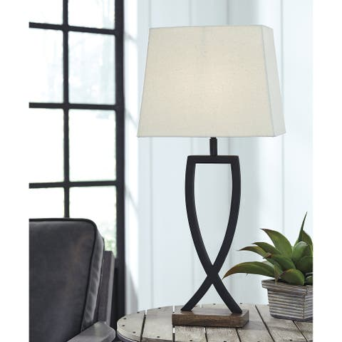 "Makara Metal Black/Brown 29 Inch Table Lamp - Set of 2 - 13.13"" W x 9.13"" D x 28.75"" H"