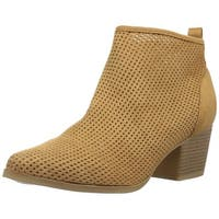 Qupid Womens nero 05 Closed Toe Ankle Fashion Boots