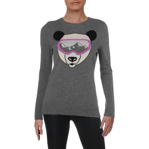 Aqua Womens Pullover Sweater Cashmere Graphic