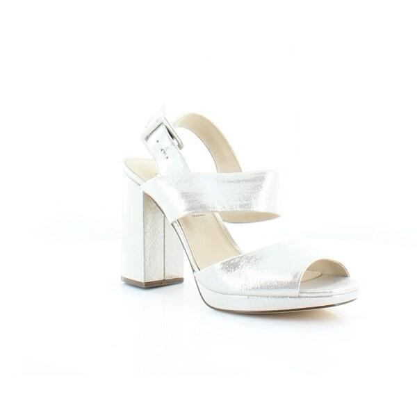 Nina Athena Women's Sandals & Flip Flops Silver - 7.5