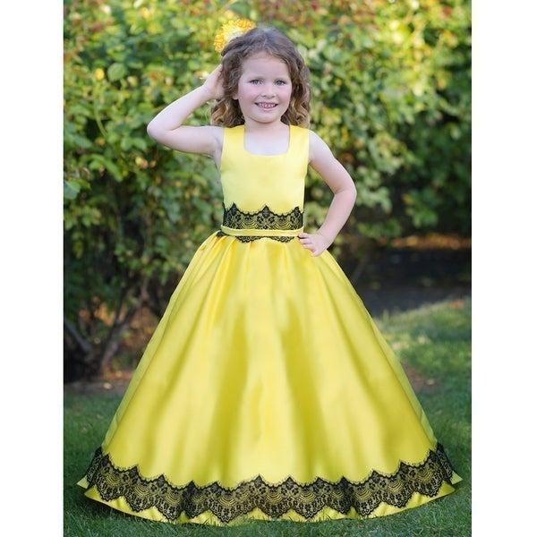 e28e8e4eb8bd1 Shop Triumph Dress Little Girls Yellow Black Holiday Ruslana Flower ...