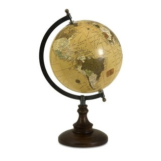 """15"""" Revolving Windsor Globe with Chocolate Brown Base"""
