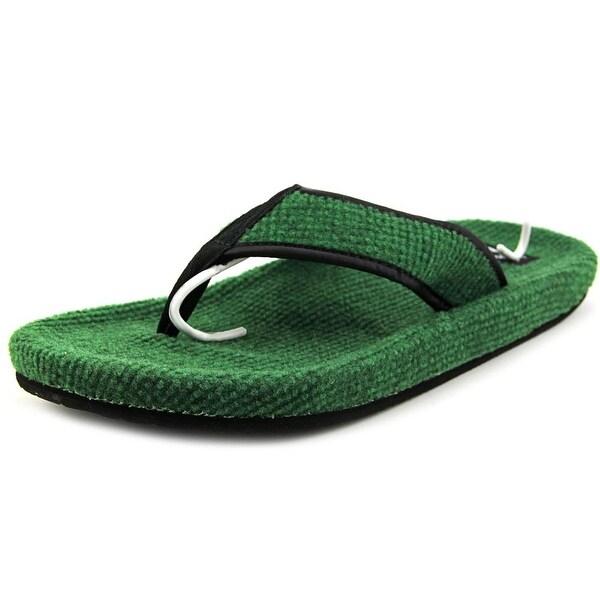 Sanuk Fur Real Classic Women Open Toe Canvas Green Thong Sandal