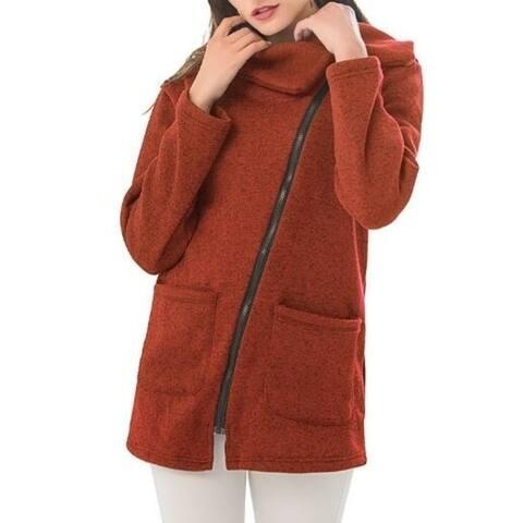 Women's Sweatshirt Fleece Zipper Outwear Jacket