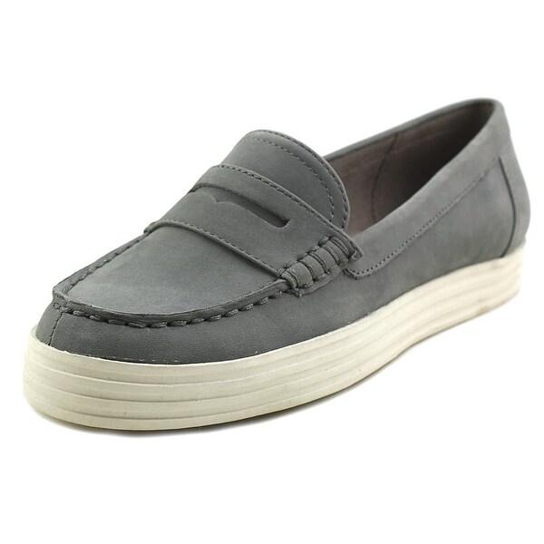 Aerosoles Alteration Women Moc Toe Leather Blue Loafer