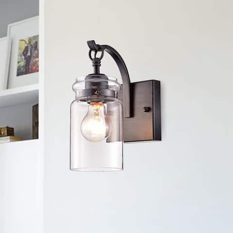 Anastasia Antique Black Single Light Wall Sconce