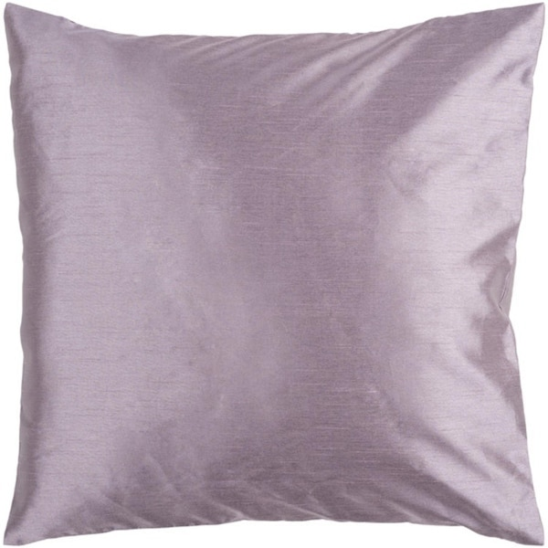 "22"" Shiny Solid Purple Lavender Decorative Down Throw Pillow"