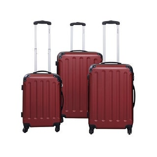 GLOBALWAY 3 Pcs Luggage Travel Set Bag ABS+PC Trolley Suitcase